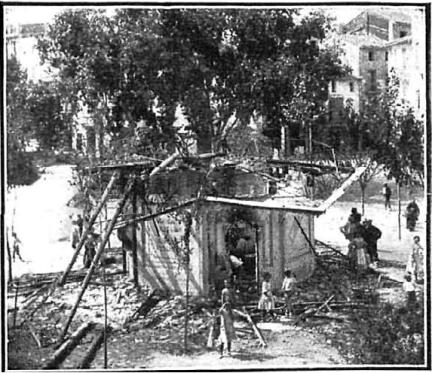 Huelga septiembre 1911 Valencia_Destruccion Kiosko Alcira_Nuevo Mundo 28-09-1911