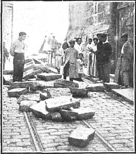 Huelga septiembre 1911 Valencia_Sabotaje Tranvia_Nuevo Mundo 28-09-1911