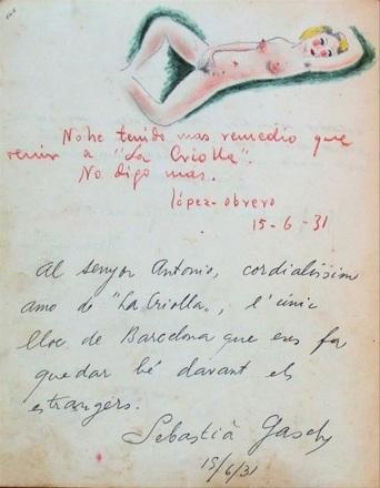 La Criolla_libro Dedicatorias_1931