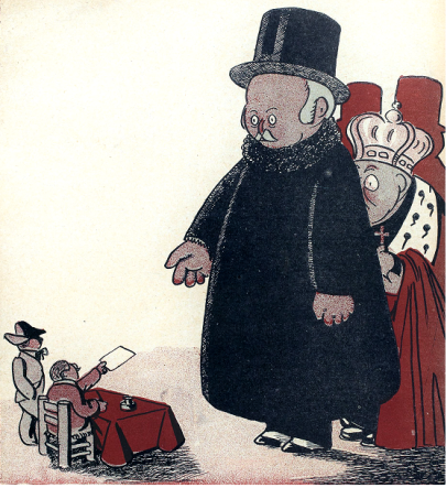 Los parasitos vencidos__L'Assiette au beurre 1910-05-07_A Hellé__01