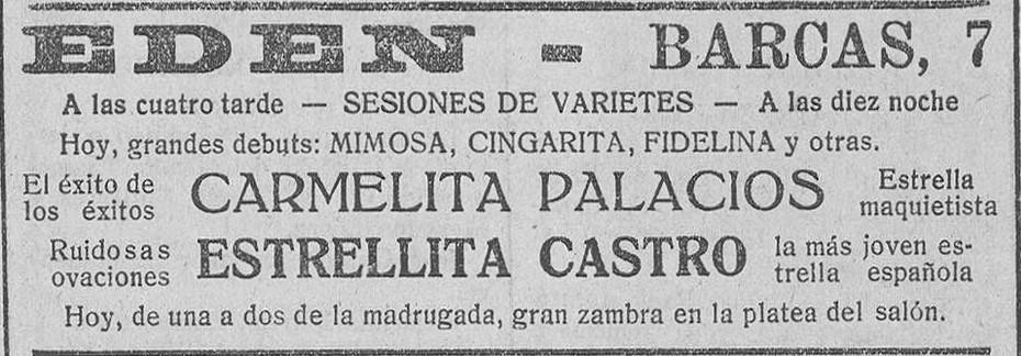 Mimosa en Eden-Valencia_LCV 1925 Octubre 03