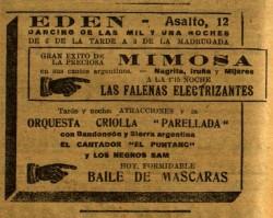 Mimosa en el Eden Concert_El Diluvio 26 feb. 1927