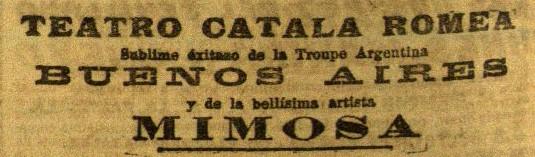 Mimosa en el Romea_El Diluvio 18 marzo 1927