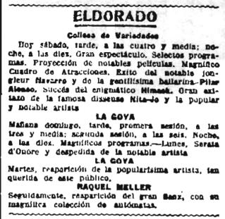Mimosa en Eldorado_La Publicitat 19-11-1921