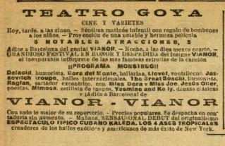 Mimosa en teatro Goya_El diluvio 25 abr. 1929