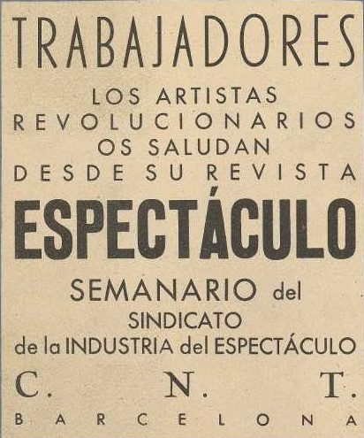 Revista Espectáculo-19370710_Contraportada_Fuente Grafica Obrera y Anarquista