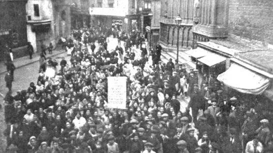 Barcelona_Huelga Subsistencias_enero de 1918