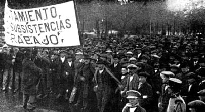 Barcelona_Manifestación Pro-subsistencias_marzo 1917