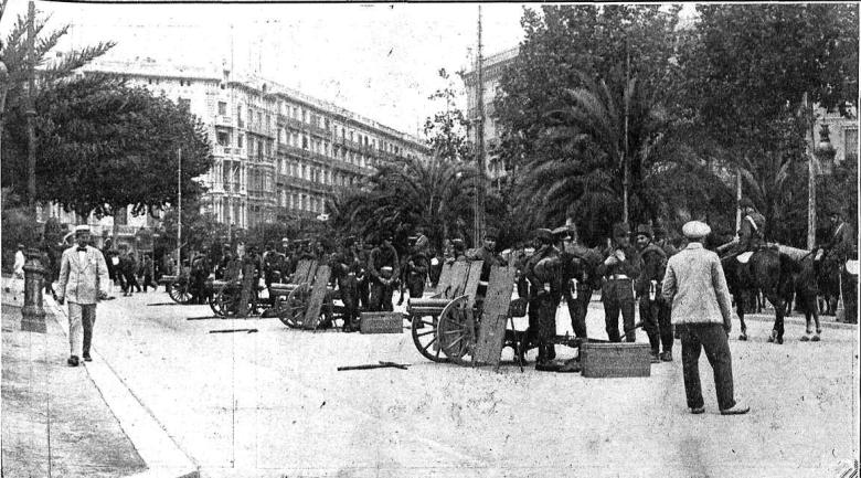 Barcelona_Plaça Catalunya_Vaga general 1917