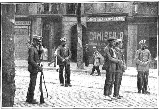 Barcelona_Vaga general agost 1917_detenció vaguistes
